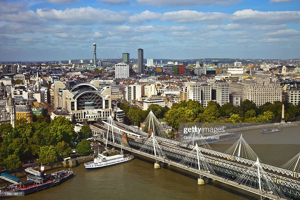 View of Charing Cross Station and BT Tower. : Stock Photo