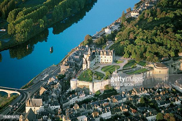 View of Chateau d'Amboise in France 13th century Loire Valley France