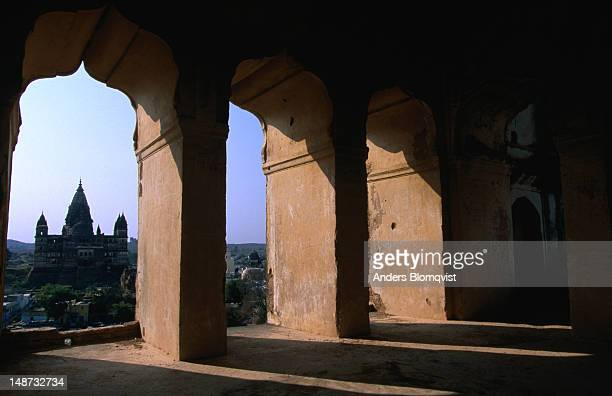 View of Chaturbhuj temple from Raj Mahal palace.