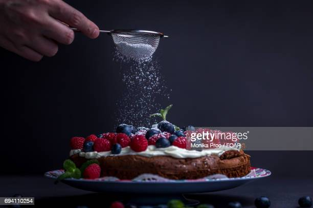 View of chocolate cake