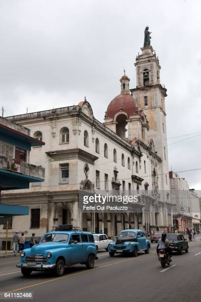 View of Church of Our Lady of Carmen of Vedado of Havana in Cuba