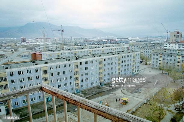 view of city apartment blocks