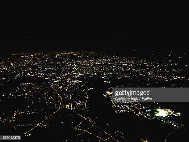 View Of City At Night