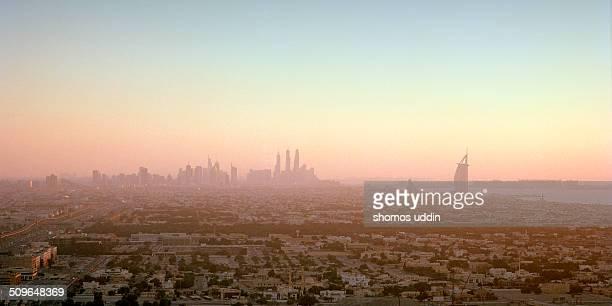 View of city of Dubai and Jumeirah Beach