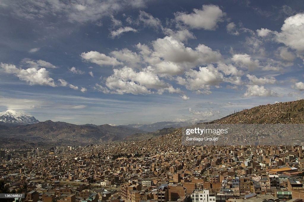 View of city of La Paz : Stock Photo