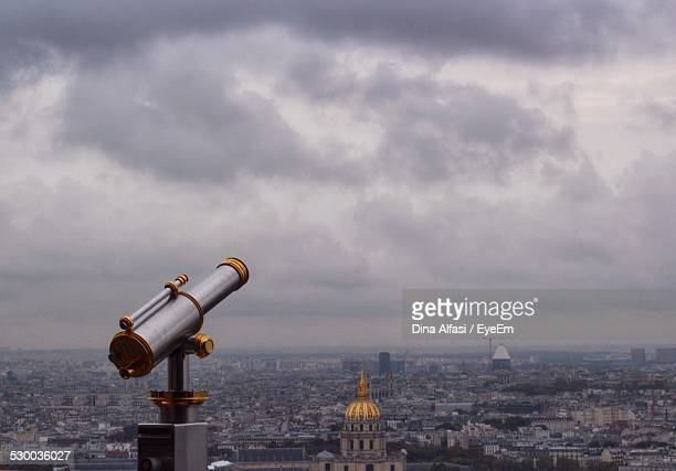 View Of City On Overcast Day