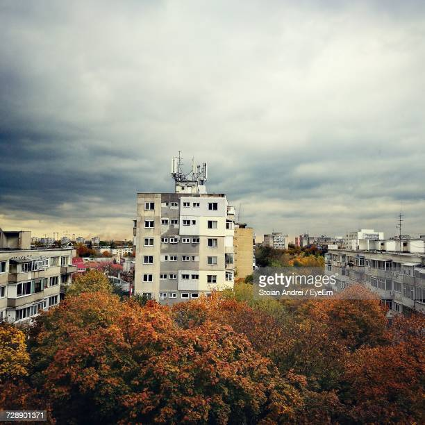 View Of Cityscape Against Sky During Autumn