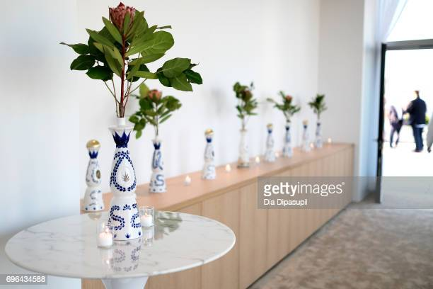A view of Clase Azul Tequila bottles at the 20th Anniversary Celebration of Clase Azul Tequila at Public hotel on June 15 2017 in New York City