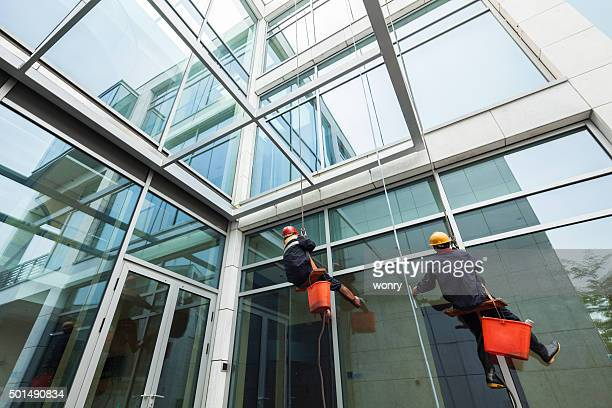 view of cleaning a contemporary  Building
