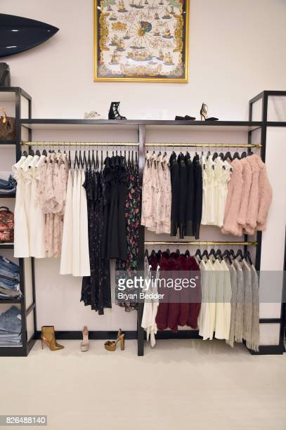 A view of clothing display during the Rachel Zoe x What Goes Around Comes Around popin on August 4 2017 in East Hampton New York