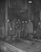 A view of coal workers from a story concerning a coal strike