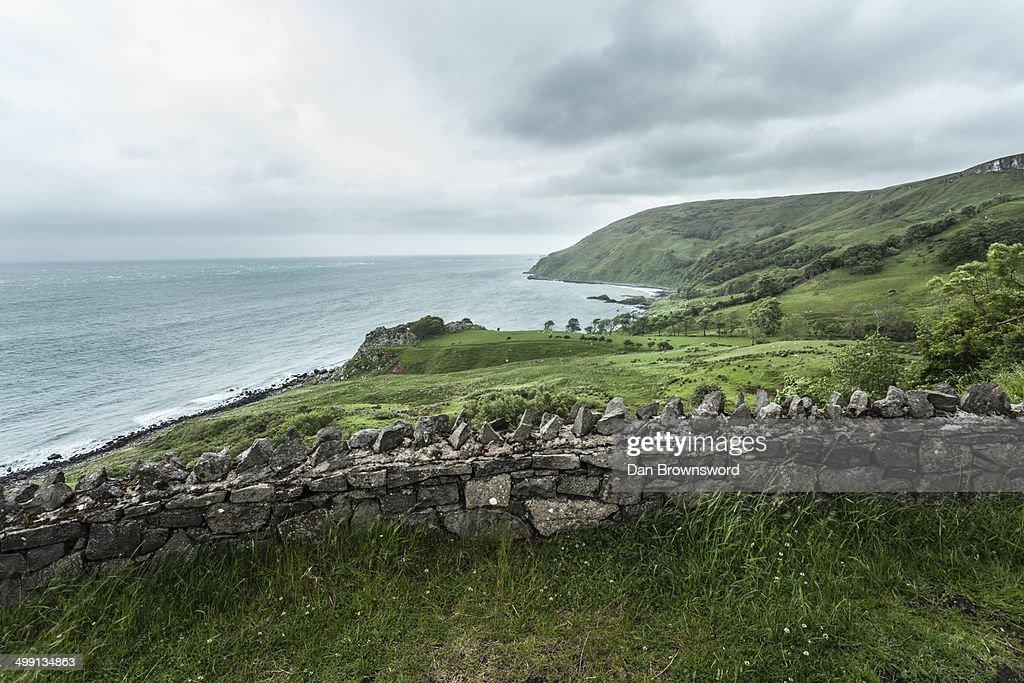 View of coastline, Glenariff, County Antrim, Northern Ireland, UK