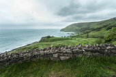 View of coastline, Glenariff, County Antrim, Northern Ireland, UK