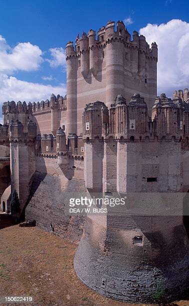 View of Coca Castle Castile and Leon Spain 15th century