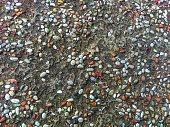 View of colored gravel using aa background or wallpaper