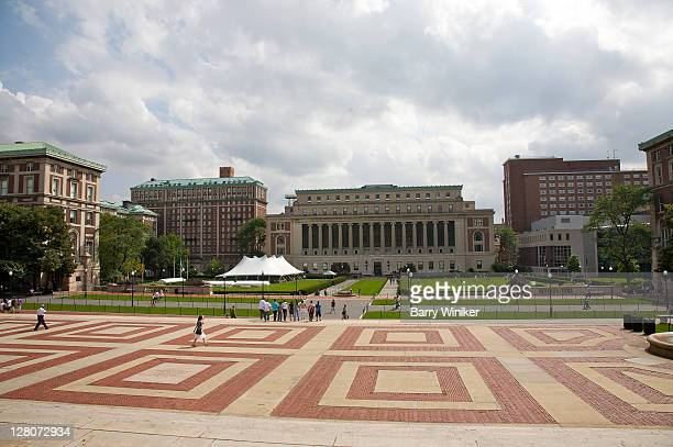 View of Columbia University campus from Low Memorial Library, Upper West Side, New York, NY, U.S.A.