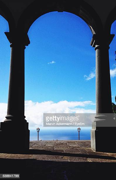 View Of Columns, Sea In Background