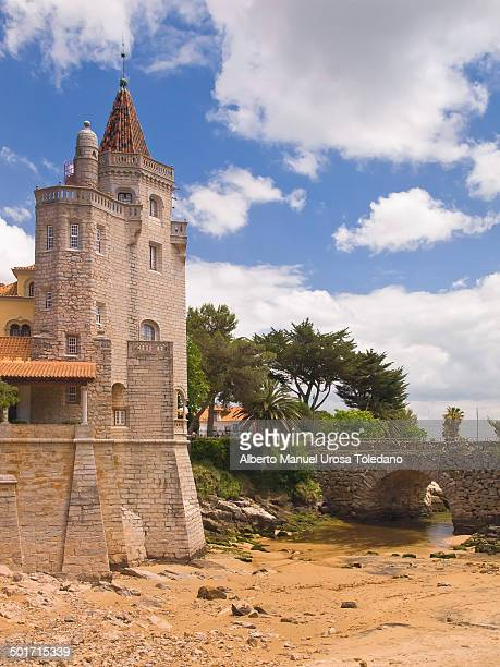 CONTENT] A view of Condes Castro Guimaräes Museum with the old bridge that links Cascais and coastline during the low tide Historically Cascais has...
