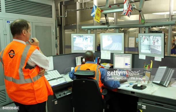 A view of control room at Westminster underground station London