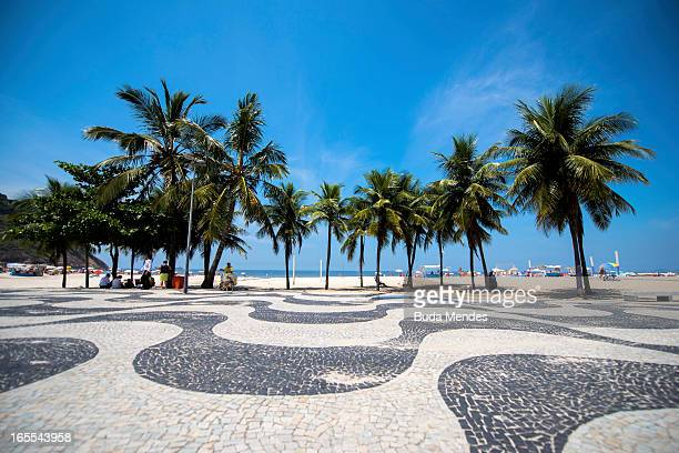 View of Copacabana Beach on April 04 2013 in Rio de Janeiro Brazil In the following years the city will host very important events such as the...