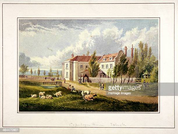 View of Copenhagen House Copenhagen Fields Islington London c1830 with cows and sheep in the foreground