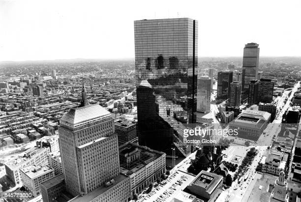 A view of Copley Square including the John Hancock Tower at center in Boston is pictured on Aug 3 1983
