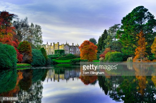 View of Country house over lake