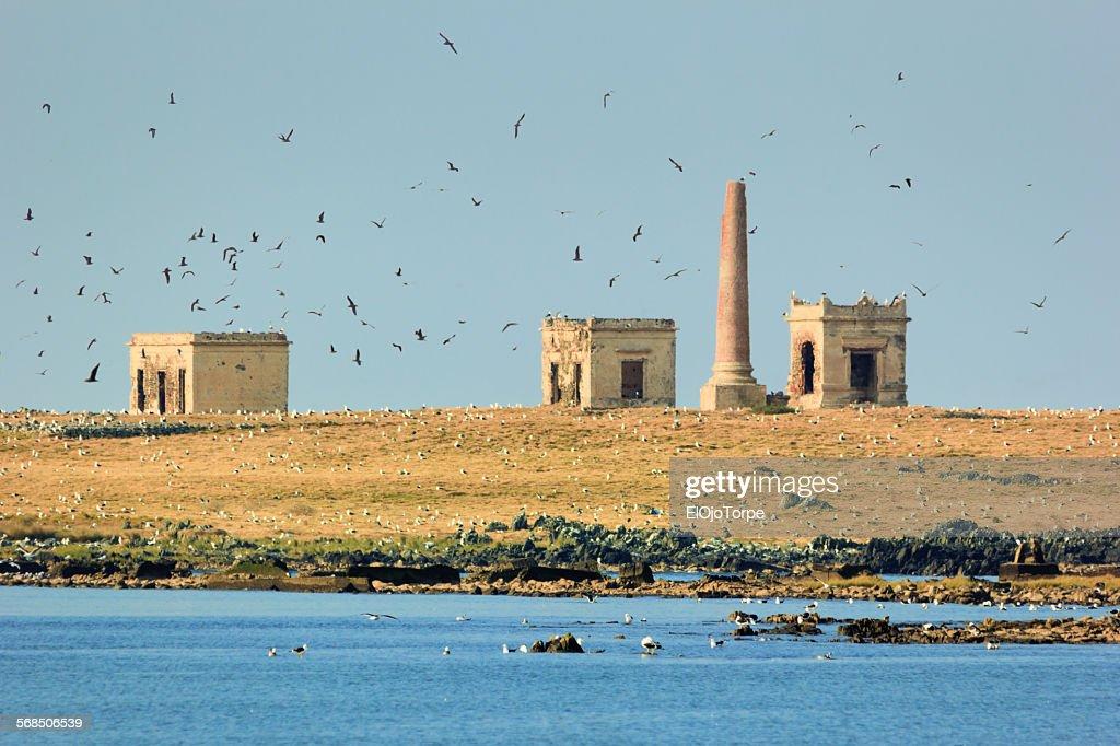 View of crematorium in Isla de Flores, Montevideo
