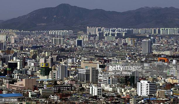 A view of Daejeon City 21 March 2001 which will host the Group B match of the FIFA World Cup 2002 tournament on 12 June 2002 and Group D match on 14...