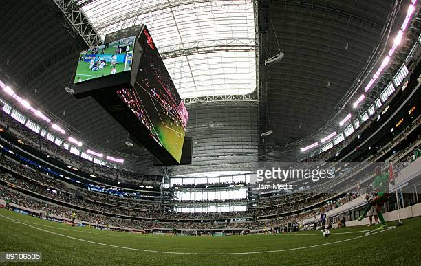 View of Dallas Stadium during the 2009 CONCACAF Gold Cup match betwen Costa Rica v Guadalupe at the quarterfinals on July 19 2009 in Dallas USA