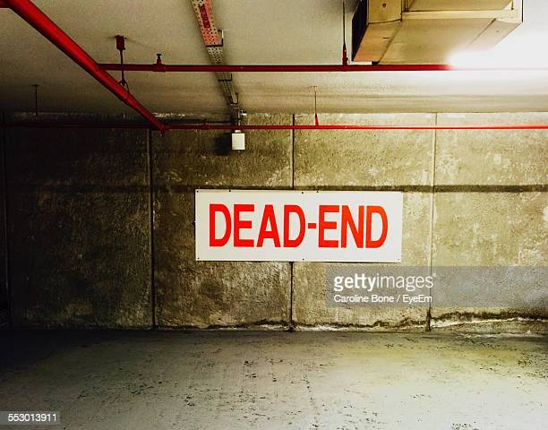 View Of Dead End Sign On The Wall