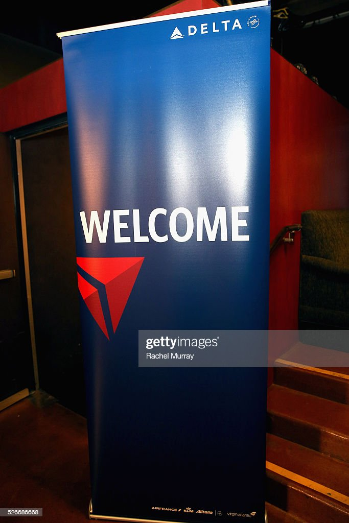 View of Delta signage is seen during day 3 of the TCM Classic Film Festival 2016 on April 30, 2016 in Los Angeles, California. 25826_007