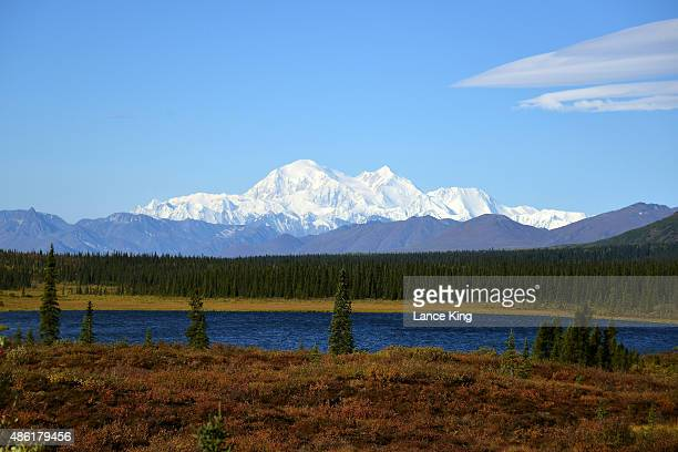 A view of Denali formerly known as Mt McKinley on September 1 2015 in Denali National Park Alaska According to the National Park Service the summit...