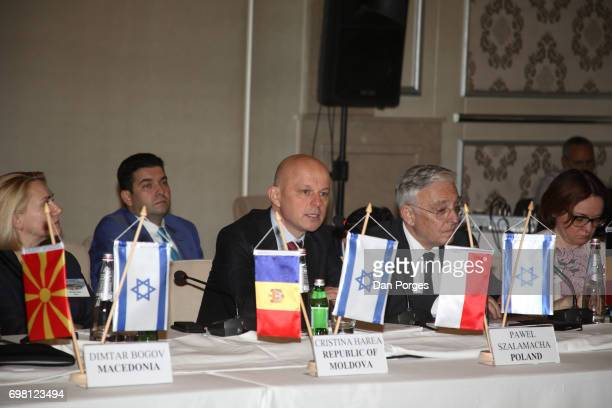 View of Deputy Governor of the National Bank of Moldova Cristina Harea National Bank of Poland Management Board member Pawel Szalamacha Governor of...