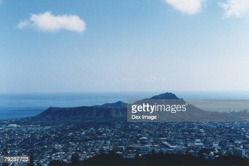View of Diamond Head, Hawaii : Stock Photo