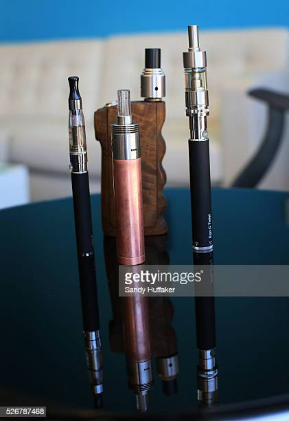View of different types of Electronic Cigarettes commonly known as TANKS sold at Sky City Vapor in San Diego California on Friday May 2 2014 A study...