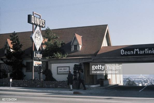 A view of Dino's Lodge a restaurant coowned by Dean Martin and located at 8532 Sunset Boulevard in December 1963 in Los Angeles California