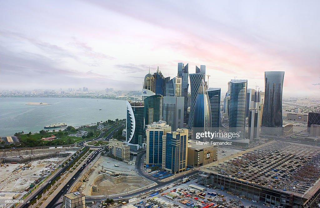 View of Doha Westbay : Stock Photo