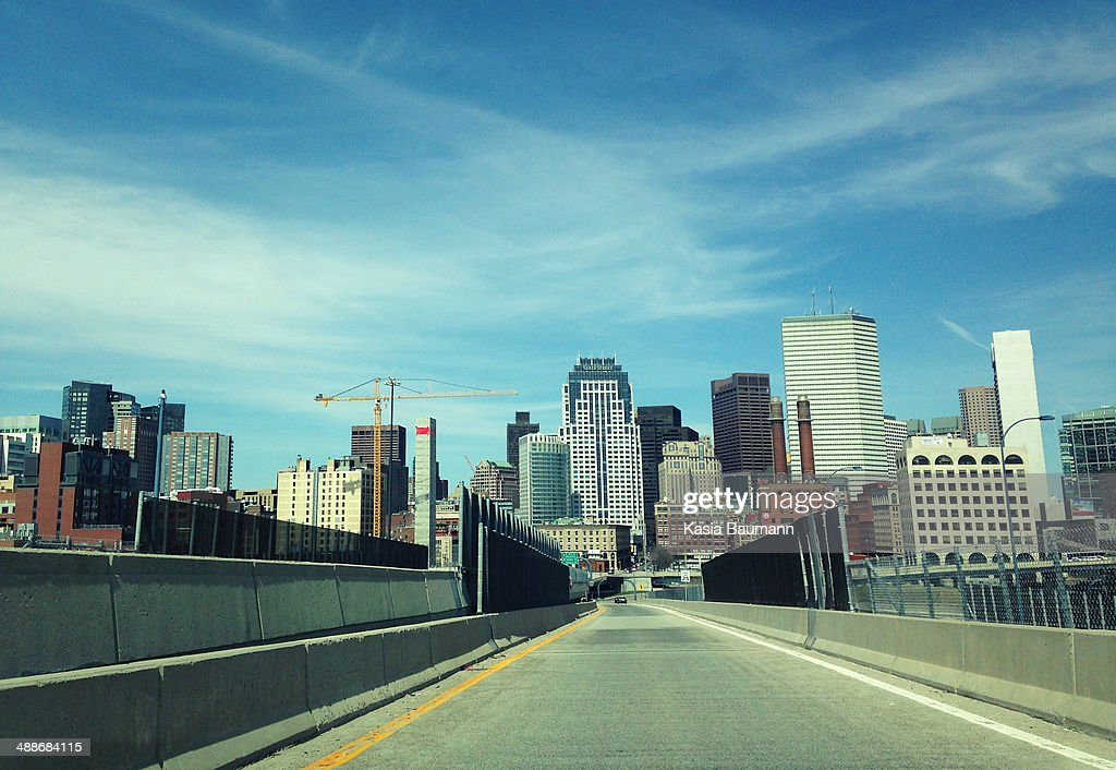 View of Downtown, Boston from a Highway