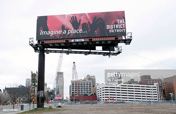 A view of downtown Detroit looking south along Woodward Avenue is shown December 10 2014 in Detroit Michigan Today Michigan Governor Rick Snyder...