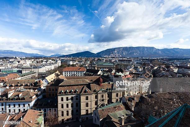 Blick auf die Innenstadt von Genf