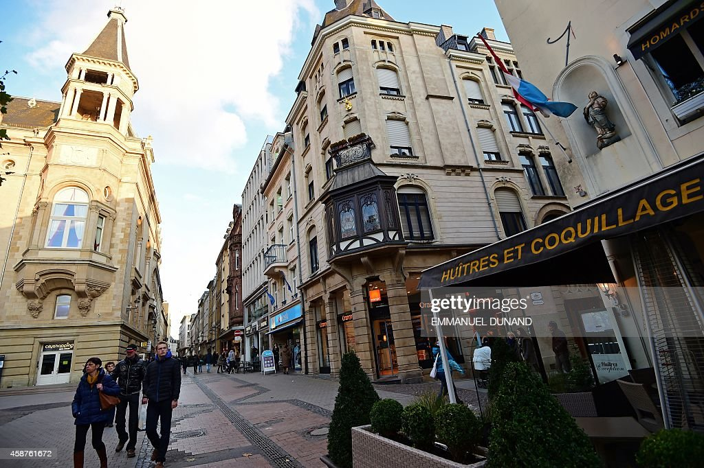 A view of downtown Luxembourg City from the Place d'Armes on November 10 2014 Leaked documents describing the Luxembourg tax arrangements of more...
