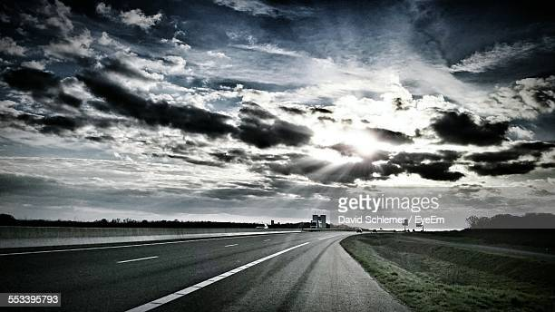 View Of Dramatic Sky Over Highway