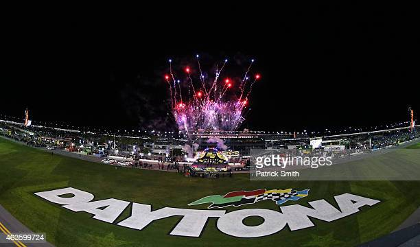 A view of driver introductions prior to the 3rd Annual Sprint Unlimited at Daytona at Daytona International Speedway on February 14 2015 in Daytona...