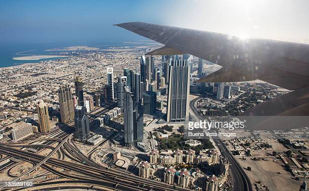 View of Dubai from an airplane