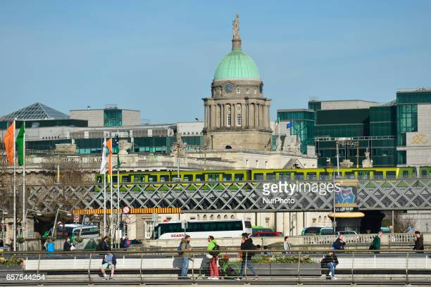 A view of Dublin with the Custom House dome in the center On Friday March 24 in Dublin Ireland