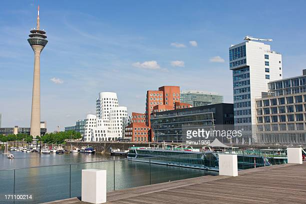 View of Dusseldorf Media Harbor (Medienhafen). Germany.
