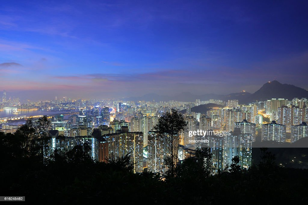 view of east kowloon at 2016 : Stock Photo