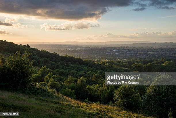 View of East Manchester from Werneth Low country park