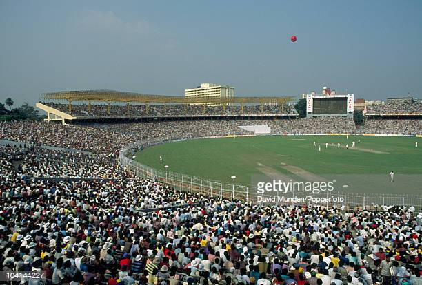 A view of Eden Gardens cricket ground in Calcutta during the one day International match between India and South Africa 10th November 1991 India won...